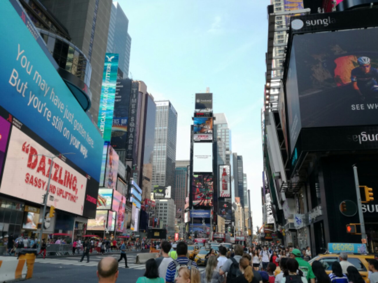 New York, hier sind wir.